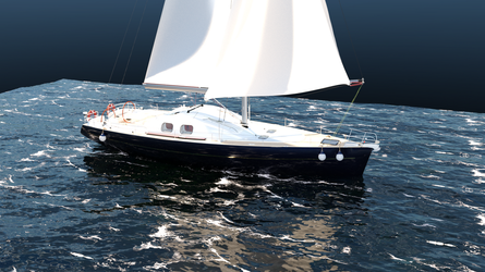Boat And Ocean Iray Test by Sentinalysis