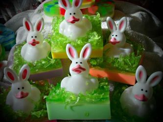 Bunny-duck soaps by bhudicae
