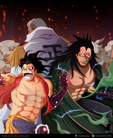 One Piece -Fanart - Monkey D. family by Melonciutus