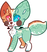 (sold) 350pt Fox Adopt by royalraptors