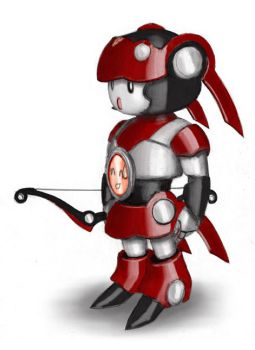 Little Robot Red by Aerythes