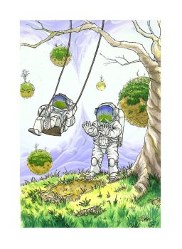 Astronauts on Swings by ptrink
