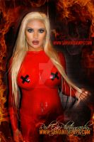 Red latex full body painting by SamanthaWpg by VisualEyeCandy