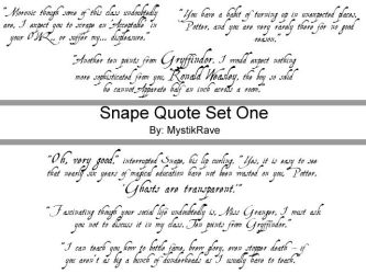 Snape Quote Brush Set ONE by MystikRave