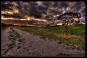 HDR Sunset Track by jwalhous