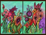 Fleurs Sauvages Diptych