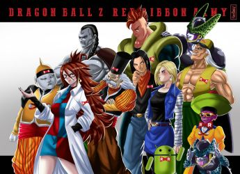 The Androids Red Ribbon Army DBZ by Raydash30