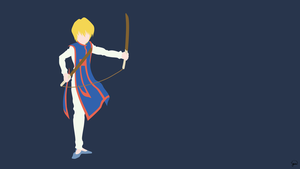 Kurapika (Hunter x Hunter) Minimalist Wallpaper by greenmapple17