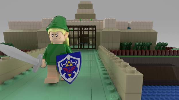 Lego Hyrule Castle, another perspective by NaityDhimDarell