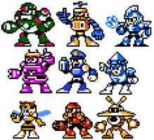 Megaman 9 Concept Robots Possible Sprites by hfbn2