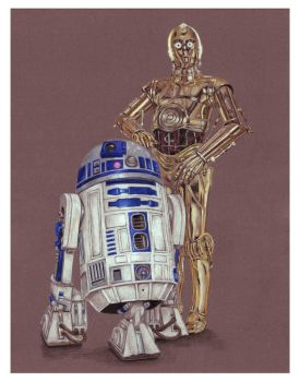 R2D2 and C3PO by ktalbot