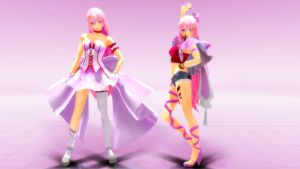 MMD Megurine Luka Dress Pink y Renegade by Spartan-743