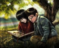 Snape y James by RamaChan