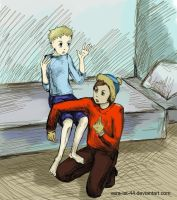 Cartman and  Butters by Vera-Ist-44