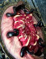 Framed tentacle beast mouth by dogzillalives