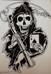 Sons of Anarchy Tattoo Design by Mac92795