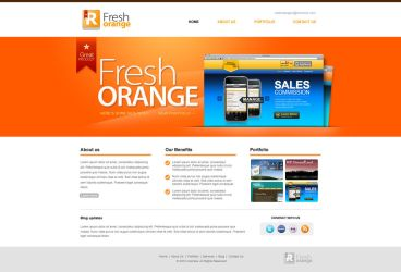 flesh orange portfolio web template by iconnice