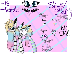 Skye/Starry [MAIN OC 2018 REF] by Starry-CrystaIs