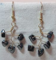 Hematite Vine Drop Earrings by the-twisted-vine