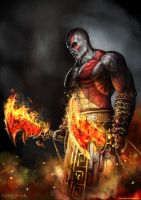 Kratos by SamDenmarkArt