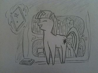 Old Twilight Sparkle Sketch by Thefirehazard1