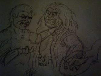 .:[DOODLE]FIGHT OF TWO BROTHERS:. by Maniactheleader