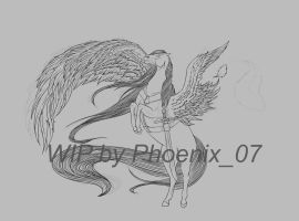 WIP one winged angel by ShishiNoSeirei