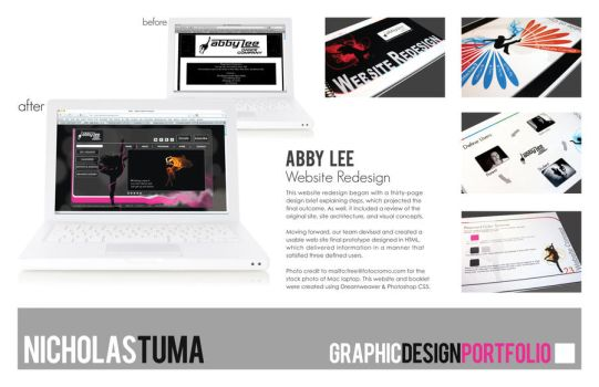Abby Lee, Website Redesign by UntouchableDesign