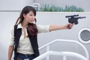 Female Han Solo Cosplay by milkchess