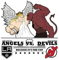 The city of angels vs. The city of the devils by jksketch