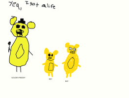 Golden Freddy and his 2 sons are ready to be asked by FNAFArtCreator