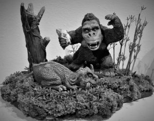 Mike Parks Kong Black and White by Legrandzilla