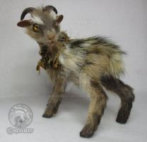 OOAK Fantasy Forest Goat Art Doll by M-J-Albert