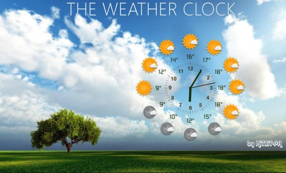 The weather clock by HiTBiT-PA
