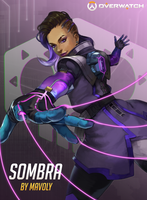 OVERWATCH - SOMBRA by Mavoly