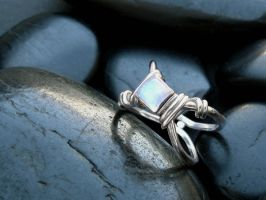 sterling moonstone ring by tinkerSue