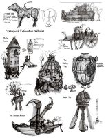 Steampunk: Concept Vehicles by Skull-Dixon