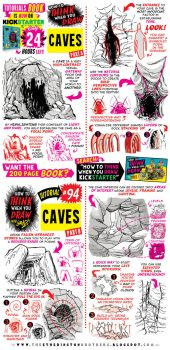 How to draw CAVES - KICKSTARTER ENDS TOMORROW! by STUDIOBLINKTWICE