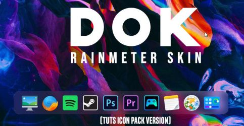 D O K - Rainmeter skin (with TUTS Icon Pack) by StarLender