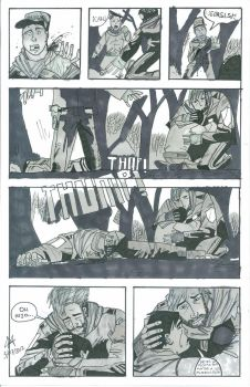 Myself in The walking dead comic #3 by Carlitoxmaister