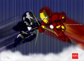 Ironman vs Ironman Dio by roelworks