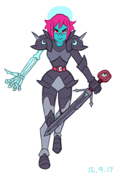 Undead Knight Girl by Lumpous