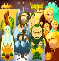 Game of Thrones: 4 Houses Bookmarks by Reabault