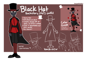 Villainous - Black Hat Backstory AU Outfit Guide by HayaMika