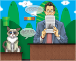 Grumpy and Stephen Colbert in the Mushroom Kingdom by CorruptTempest