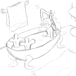 Lily in the Tub by spongesquirrel44
