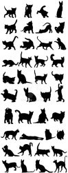 Cats Silhouettes Big Pack by manicobe