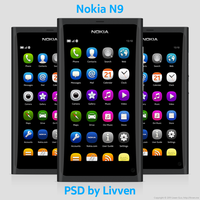 Nokia N9 PSD by Livven