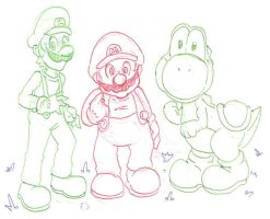Super Mario Bros - Heroes by kamon-san