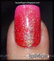 Flamingo Fire Fusion Nails 1 by mslaynie